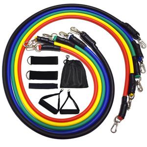 11 pc / Gruppi Set resistenza di forma fisica Corpo Palestra dell'attrezzatura da casa con il sacchetto Donna e Uomo