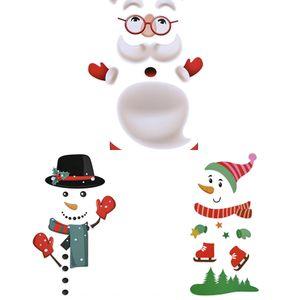 Hot venda de produtos decorativos criativo papel adesivo Natal geladeira colar adesivos geladeira magnética Natal atmosfera dezembro