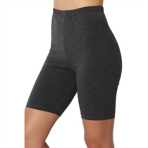 Femmes Casual Fitness Court Summer Summer Cuisse Stretch Sport Leggings Span Taille High Taille Courts Leggings Pantalons