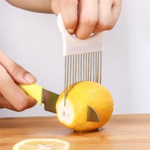 2021 جديد مطبخ أدوات البصل القطاعة الخضروات الطماطم الآمن شوكة الخضروات تقطيع أدوات القطع GWD3562