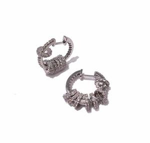 Fahion Stainless Steelengraved V Letter Ball Stud Earrings 18k Gold Stud Earrings Rose Gold Stud wmtyZv dh_garden