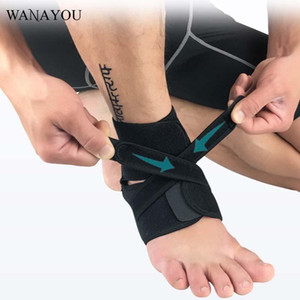 WANAYOU 1pcs Adjustable Sports Ankle Support,Breathable Barefoot Ankle Bandage,Black Elastic Pad for Football Running