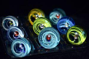 Universum Marmorkugel Sternenhimmel Spinning Carb Cap Rauch Terp Pearls 21mm 25mm Quarz Banger DAB Nägel Dabber Bong