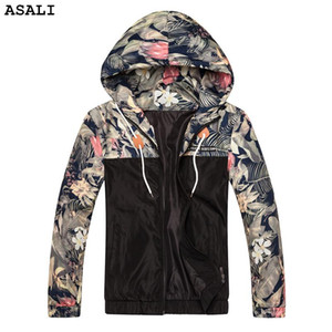 ASALI Mens Spring Autumn Casual Outwear Slim Fit Thin patchwork Jacket Brand Clothing men hooded Bomber Jacket J50