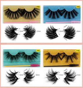 Eyelashes Fashion Style 3d Mink Eyelashes 25mm Headbands Thick Full Strip Lashes Wholesale Makeup With Eyelash Brush Free Shipping