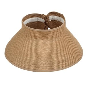 New Fshion Sun Protection Summer Hats For Women Top Empty Outdoor Casual Wide Brim Straw Sun Hat Ladies Beach Caps Can Tracked
