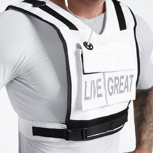 Men's Outdoor Sportswear Training Running Tank Tops Active Multi-functional Tactical Vests Wear-resistant Protective Adventure Equipment
