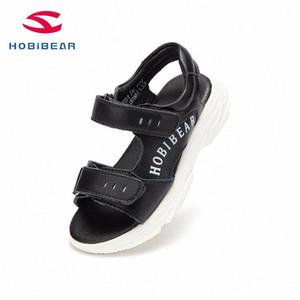 أحذية HOBIBEAR 2020New الاطفال تو العلامة التجارية مقفلة طفل بنين الصنادل العظام الرياضة بو الجلود والأحذية للصيف GU3591 d35w #