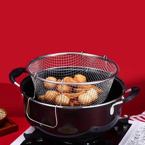Pote frito de la olla gruesa olla pequeña freidora Inicio Inicio Inducción Cocina Universal con canasta de cuadrícula Freying Pan Pan de no palmado