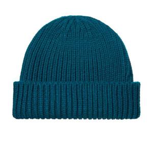 Diy Solid Beanie Winter Hats For Women Men Autumn Docker Brimless Cap Designer Bonnets Wholesale Ladies Accessories Black Skullcap Christmas