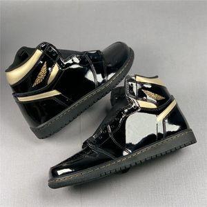 1 High OG Black / Metallic Old Men Baloncesto Zapatos de baloncesto 1s Tablero roto 3.0 Negro Naranja Mujer Zapatillas Deportes Deportes