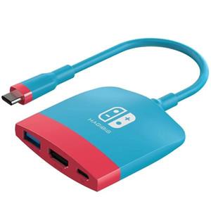 HAGIBIS USB-C Switch Station d'accueil Hub Adaptateur USB C à 4K HDMI / USB 3.0 / PD 100W Chargement pour Nintendo Switch MacBook Pro Pro