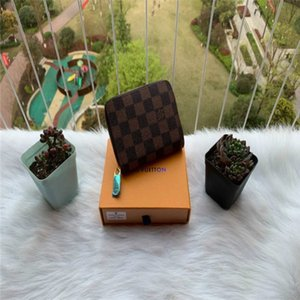 Designers mensVUITTONwomenLVwallet famous men luxury purse special canvas multiple short small bifold wallet with box