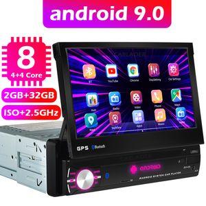 Android 9.0 1Din 8 Core Car Gps Navigation Player 7 '' Univera Radio WiFi Bluetooth MP5 1 DIN MULTIMEDIA NO DVD