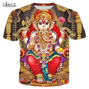 Hindu Ganesha été T-shirts 3D imprimé dieu de la sagesse Ganesha T-shirt à manches courtes Hommes Femmes Hip Hop Harajuku shirt T-shirt 1005