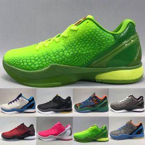 2020 Good Grinch Black Mamba 6 Del Sol Sapatos Para Venda Esportes Sneakers Quente Homens Mulheres Basquetebol Treinador Sapatos Loja US7-US12