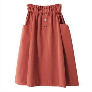 Womens Skirt Skirts Faldas Jupe Femme Shein Saia Harajuku Casual Denim Vintage Comfortable High Waist Bandage Ladies Long 40