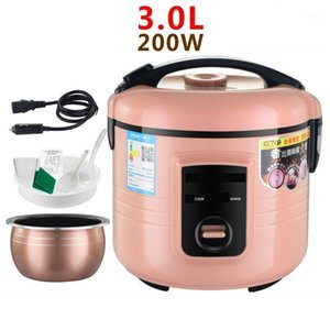 Car electric rice cooker 24V large truck 3 liters cooking 24 volt car pot 2-4 people 3L extension cord1