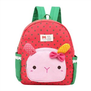 anti theft backpack Children Baby Girls Boys Kids Cartoon Rabbit Animal Backpack Toddler School Bag Preppy Style Soft Teenage