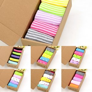 caramelle 8FX3u 5 paia di confezione di colore dei calzini regalo pigro scatola corta per gli uomini e le donne calze Exh1P paio paio socksCandy boxed