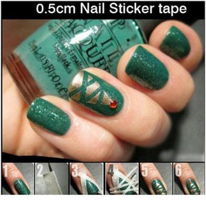 2pcs Creative Design Nail Art Adhesive Tape 0.5cmx7m Nail Stickers Strong Sticky Glue For Diy Nail Gel Poli jllQLM