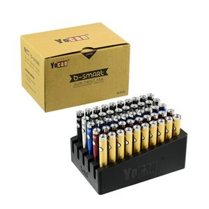 정통 Yocan B-스마트 Vape 배터리 펜 320mAh 슬림 디스플레이 스탠드로 예열 VV 바닥 조정 전압 E CIG 510 배터리 트위스트