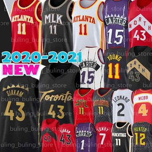 Pascal 43 Siakam Jerseys Trae 11 Junge Kyle 7 Lowry Vince Deandre 12 Hunter Tracy Carter McGrady Spud 4 Webb 2021 New Basketball
