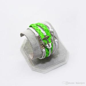 infinity jewelry wholesale new leather luxury love braided bracelet Beautifully brand leather bracelet