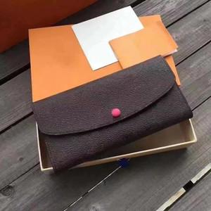 Moda Atacado Senhora Clássica Carteira De Couro Moda Longa Carteira Dinheiro Bag Zipper Bag Coin Embreagem Saco Carteira
