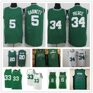 Vintage Paul 34 Pierce Jersey Kevin 5 kg Garnett Verde Ray 34 Allen Jayson 0 Tatum Kemba 8 Walker Jaylen 7 Brown Basketball Jerseys
