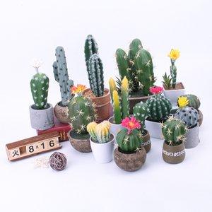 Artificial Bonsai cactus Pot Plants Fake Flowers Potted Ornaments For Home Decoration Hotel Garden Decor(NO Pots)