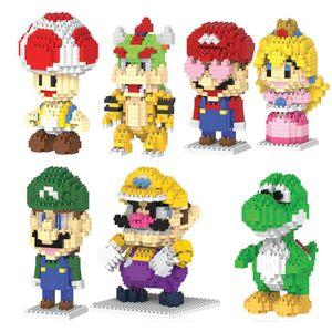 2017 nuova magia Mario Diy Mini costruzione Luigi blocchi di bambini Pricness Toysspecial Omino del fumetto Roelcutestewart sqcLKP pingtoy