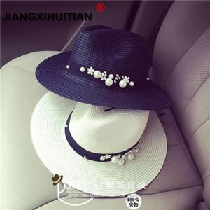 2020 Новая весна лето Цветочные шапки Цветочные бусины широкий широкий Джаз панама Feminino Lens Hat Cappello Бич