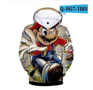 Super mario hoodie kids Fashion Casual 3D print Boys Girls clothes Pullover Sweatshirts Tops Sportswear Tops Gift for Children