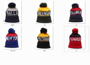 Nuovo Berretti Calcio Berretti 2020 sport del cappello del Knit Pom Pom Cappelli Hot NY GB SF NE Squadre Knits Mescolare e abbinare le Cap