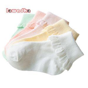 Lawadka 10 шт / много хлопка детей носки Мода Спорт Короткие носки Девочки Носки LJ201019