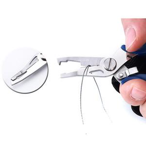 Venta al por mayor Alicates de pesca de acero inoxidable Tijeras Pescador al aire libre Línea cortadora Eliminar Hook Pesca Tackle Tarack Tool Gadget 4 Color EWD2632