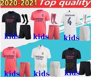 enfants 2020/21 kits de football jersey de football Real Madrid 2021 chemisette de futbol RISQUE BENZEMA CITP MODRIC enfants kits footbal