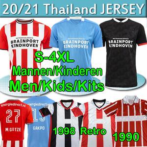 4XL PSV Eindhoven Fussball Jersey 2020 2021 Götze Malen Gakpo Ihattaren Zahavi 1990 1998 Wohnung Retro Männer Kits Kinder Fußball Hemden Uniform