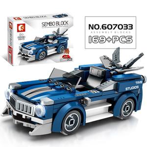 City Vehicle Racing Competitive Sports Racing Car Bricks Speed Champion Technology Model Building Blocks Children Boys Birthday Gift