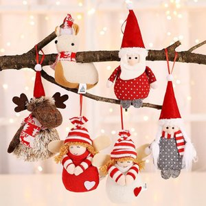 Navidad 2019 Peluche Pendentif Angel Pendentif Innovative Sapin De Noël Décorations de décorations Penderie Pendentif Ornements Décorations de Noël pour Home1