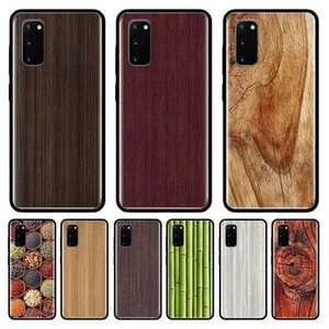 Wood Textures Luxury Case For Samsung Galaxy S10 S20 Ultra S9 S8 Plus S7 Note 20 9 10 Lite Cubre Black Tpu Mobile Phone Coque