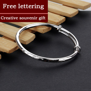 Free shipping 100% 925 Sterling Silver Bracelet Pull-pull adjusting bracelet Bangle Women Fashion Jewelry Gift For Girls Lady 200925