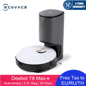 Original ECOVACS DEEBOT OZMO T8 MAX Robot Vacuum Cleaner Automatic Empty 2.5L Dust Collection Bag for 30 Days