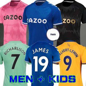 ايفرتون 20 قمصان 21 لكرة القدم جيرسي RICHARLISON KEAN سيجوردسون لكرة القدم 2020 2021 توسون الكوت JAMES ايفرتون IWOBI الرئيسية بعيدا الرجال الأطفال كيت