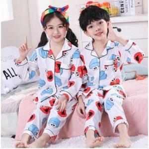 Девочки Пижама Костюм Детской одежды Set 2020 Довольно Spring Детского Cothing Дети Пижама Комплекты Cartoon Кардиган младенец хлопок Pijama bhHJ #