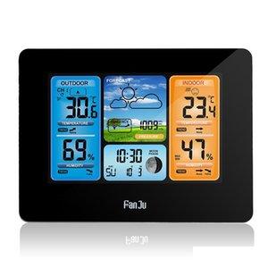 Fanju FJ3373 Estação meteorológica Barómetro Higrômetro Sensor Sem Fio LCD Display Tempo Previsão de Tempo D Jllcfx Lucky2005