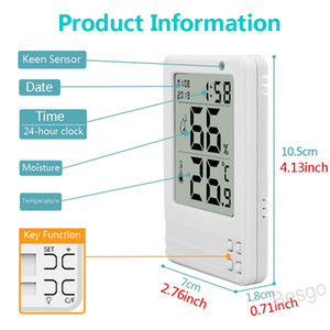 3.2inch Calendar Hygrometer Digital Temperature Humidity Indoor Humidity Meter Intelligent Clock Backlight LED Thermometer BH4295 WXM