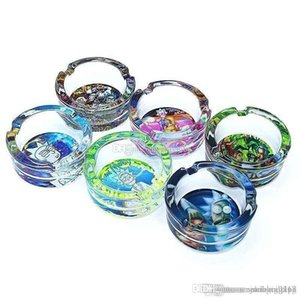 Wholesale High quality Glass ashtray for Cigarettes Outdoor Easy Clean House Decorations Crystal Ash tray for Home Office