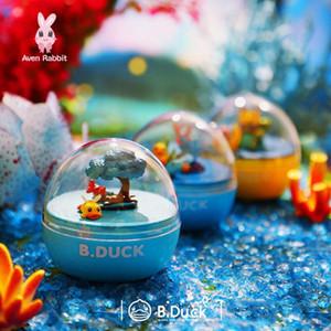 Blind Box Подлинная B.Duck Мечта Путешествие Вращающийся Маленькая желтая утка Music Box Blind Box Капсула игрушки ручной офис Aberdeen украшения Trendy